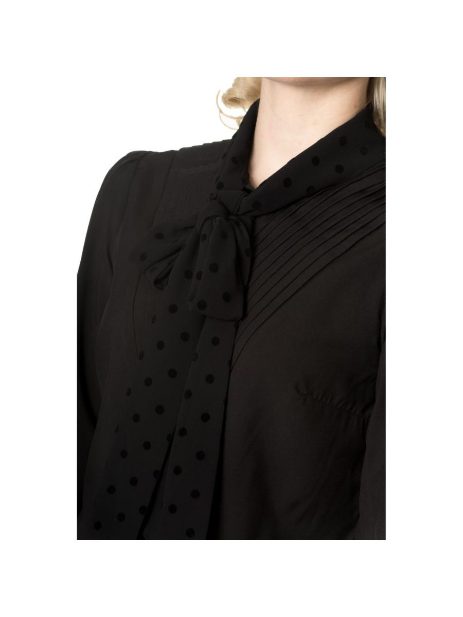 SENT WITH LOVE TIE NECK BLOUSE