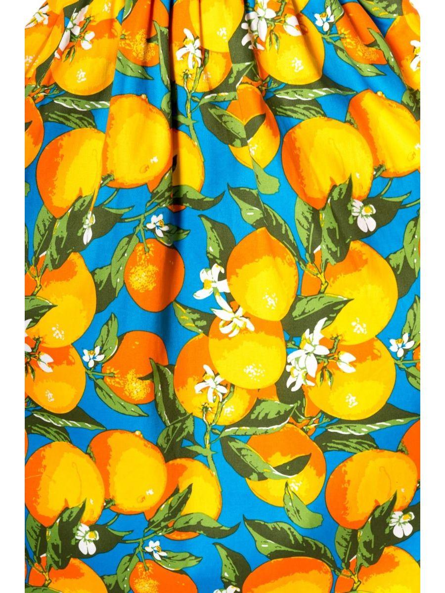 LANEWAY ORANGE PRINT TEA DRESS