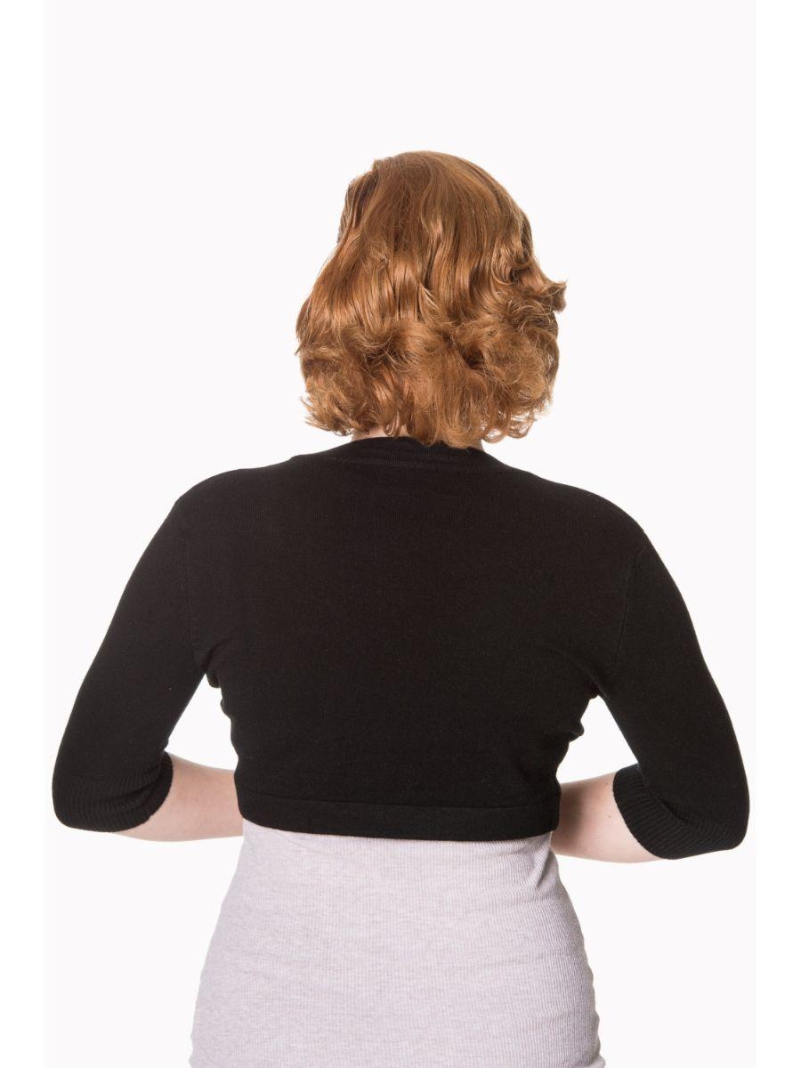 Banned Retro 1950's Hudson Anna Bolero Black