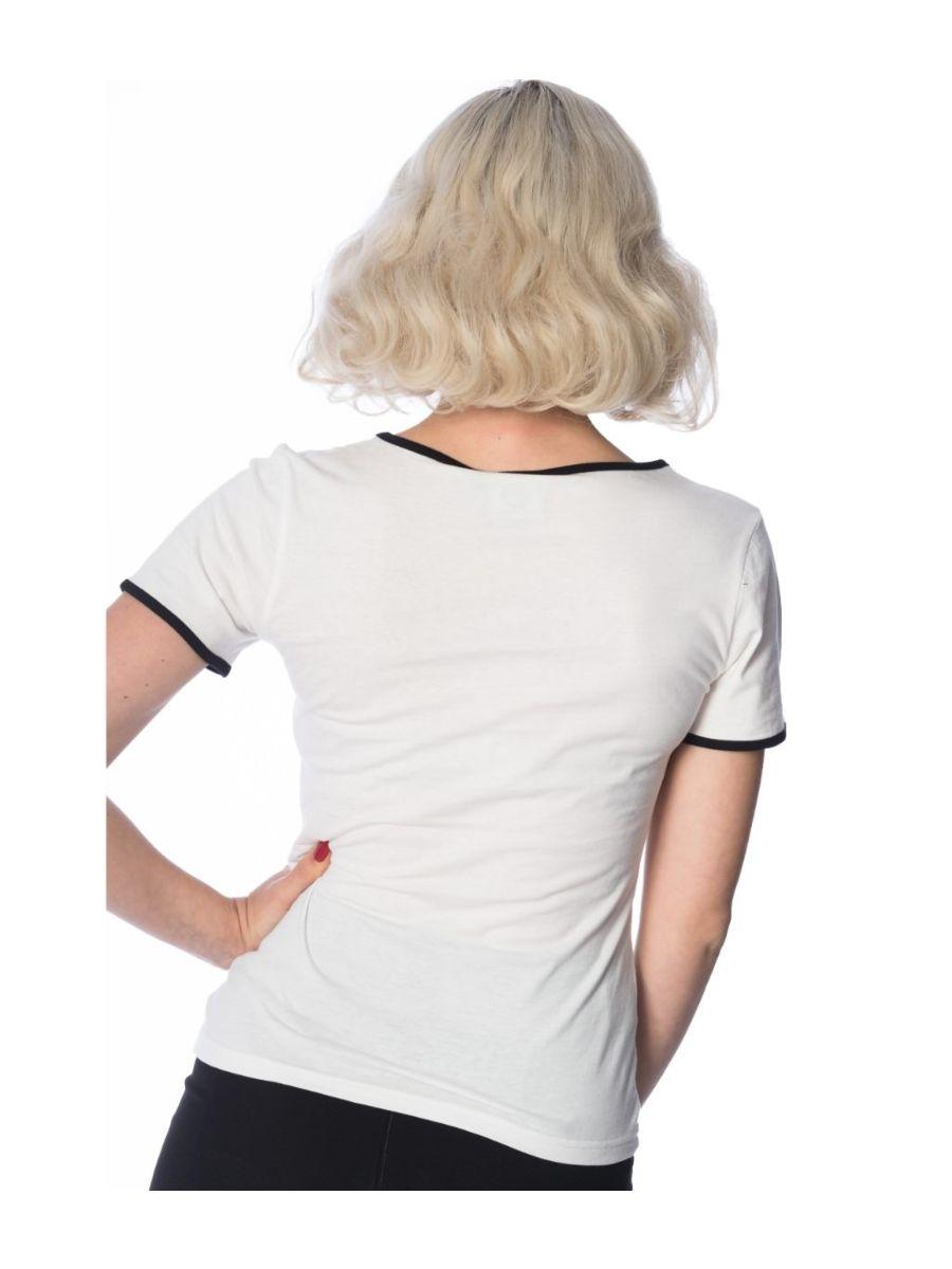 Banned Retro 1950's Oh Dear Didi Crew Neck Vintage T-Shirt Off White