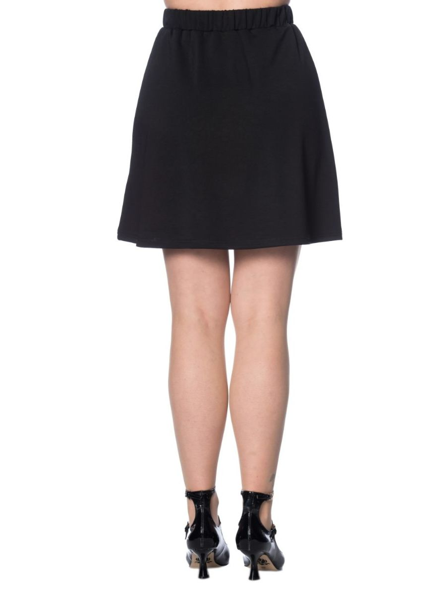 MOD CIRCLES POCKET A-LINE SKIRT