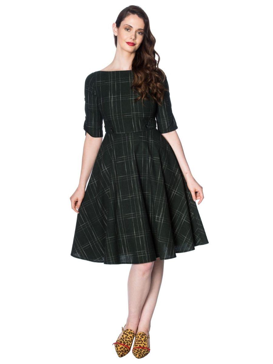 GABRIELLE CHECK DRESS