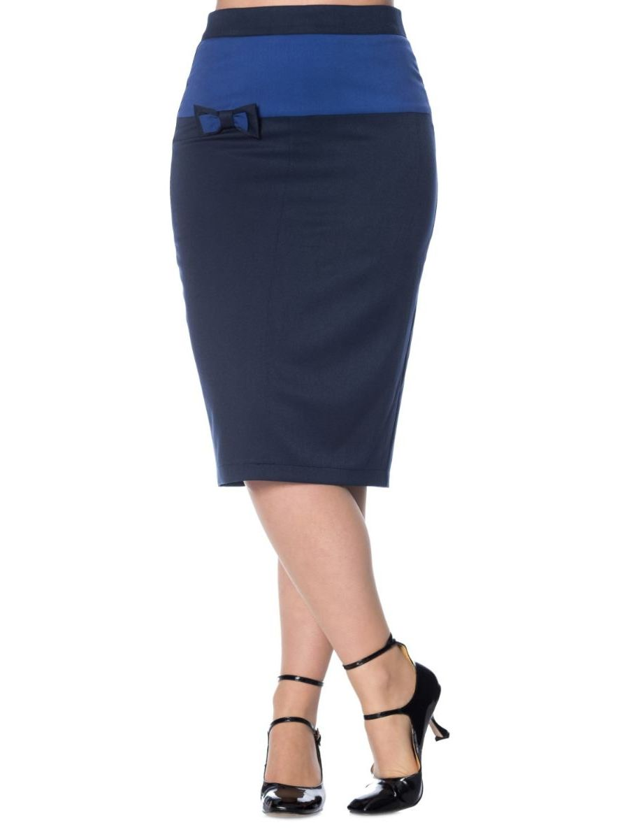 COLOUR BLOCK PENCIL SKIRT