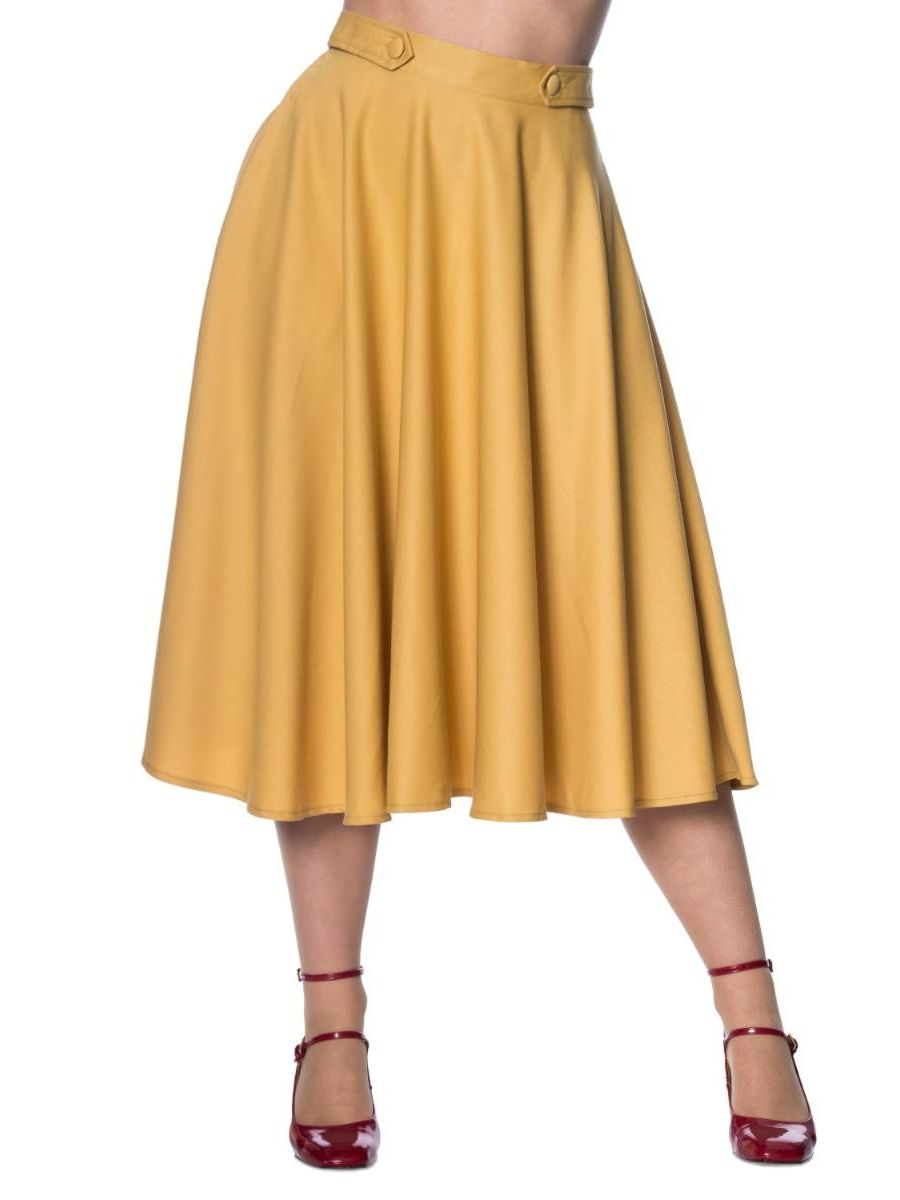 Banned Retro 1950's Di Di Swing Skirt With Pockets