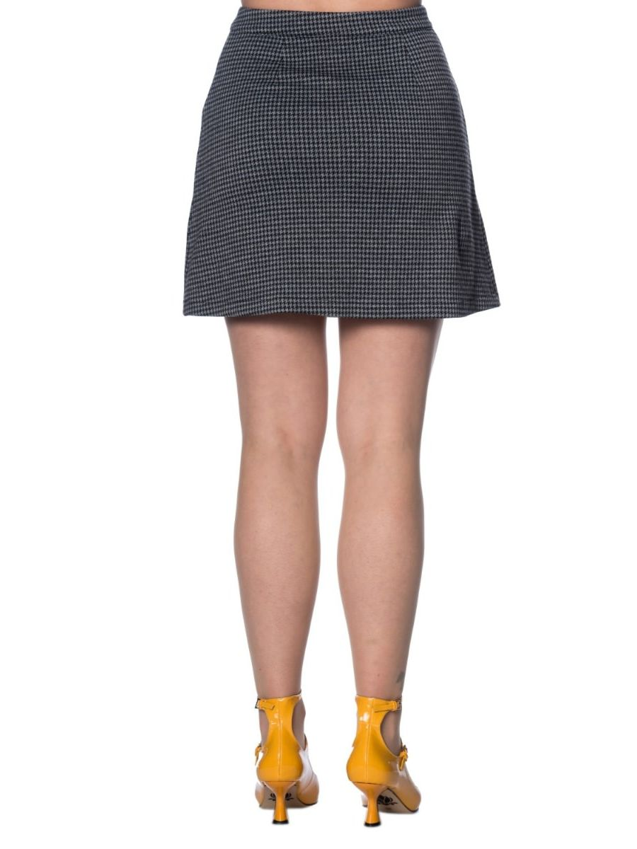 BELLA CHECK A-SYMMETRIC SKIRT