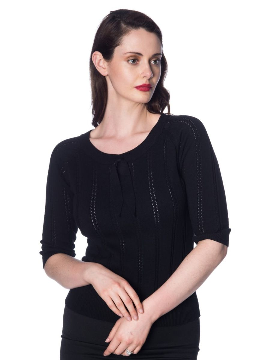 BELLE BOW POINTELLE TOP