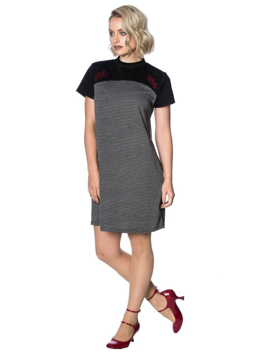 BETTY COLOUR BLOCK CHECK DRESS