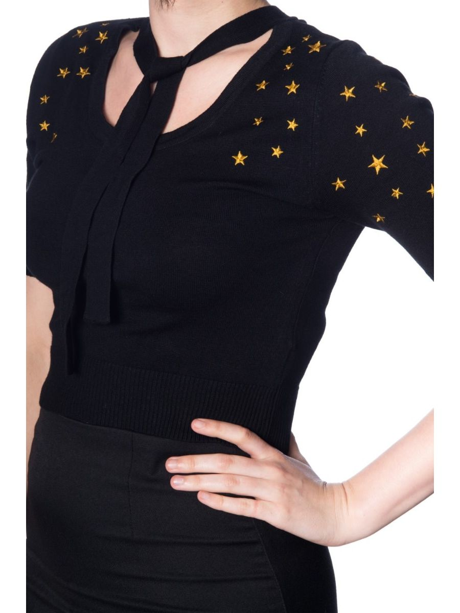BEYOND THE STARS TIE FRONT TOP