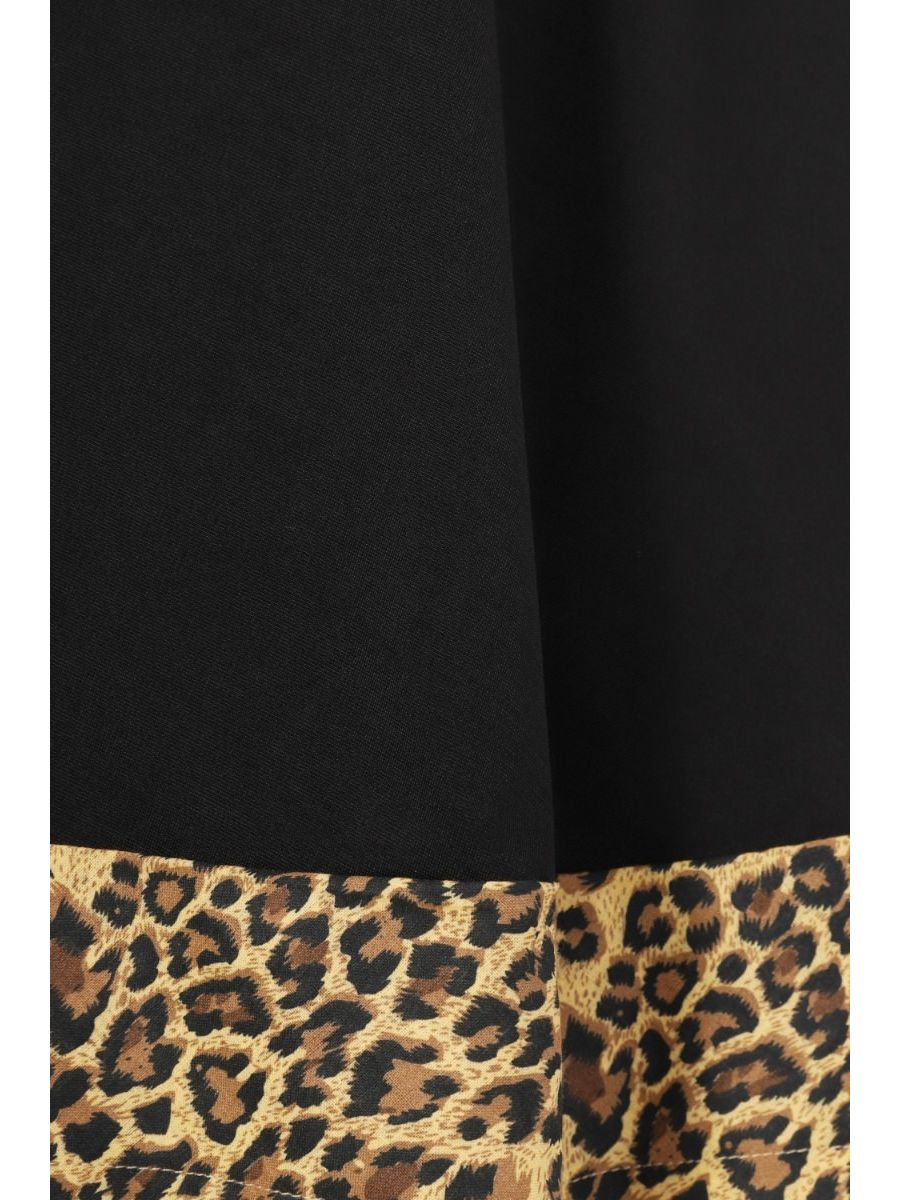 ROCK 'N' ROLL LEOPARD SWING SKIRT