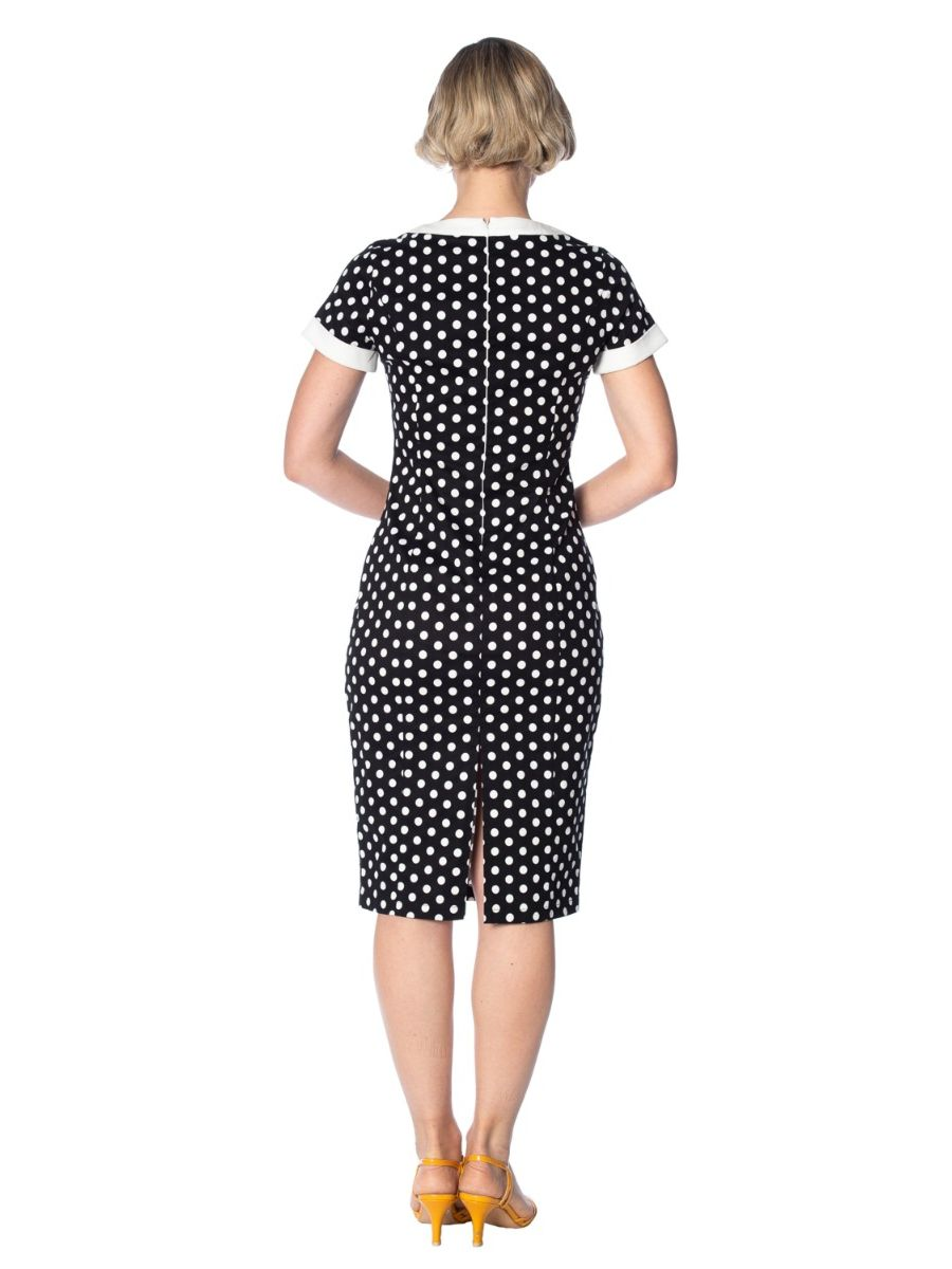 POLKA LOVE PENCIL DRESS