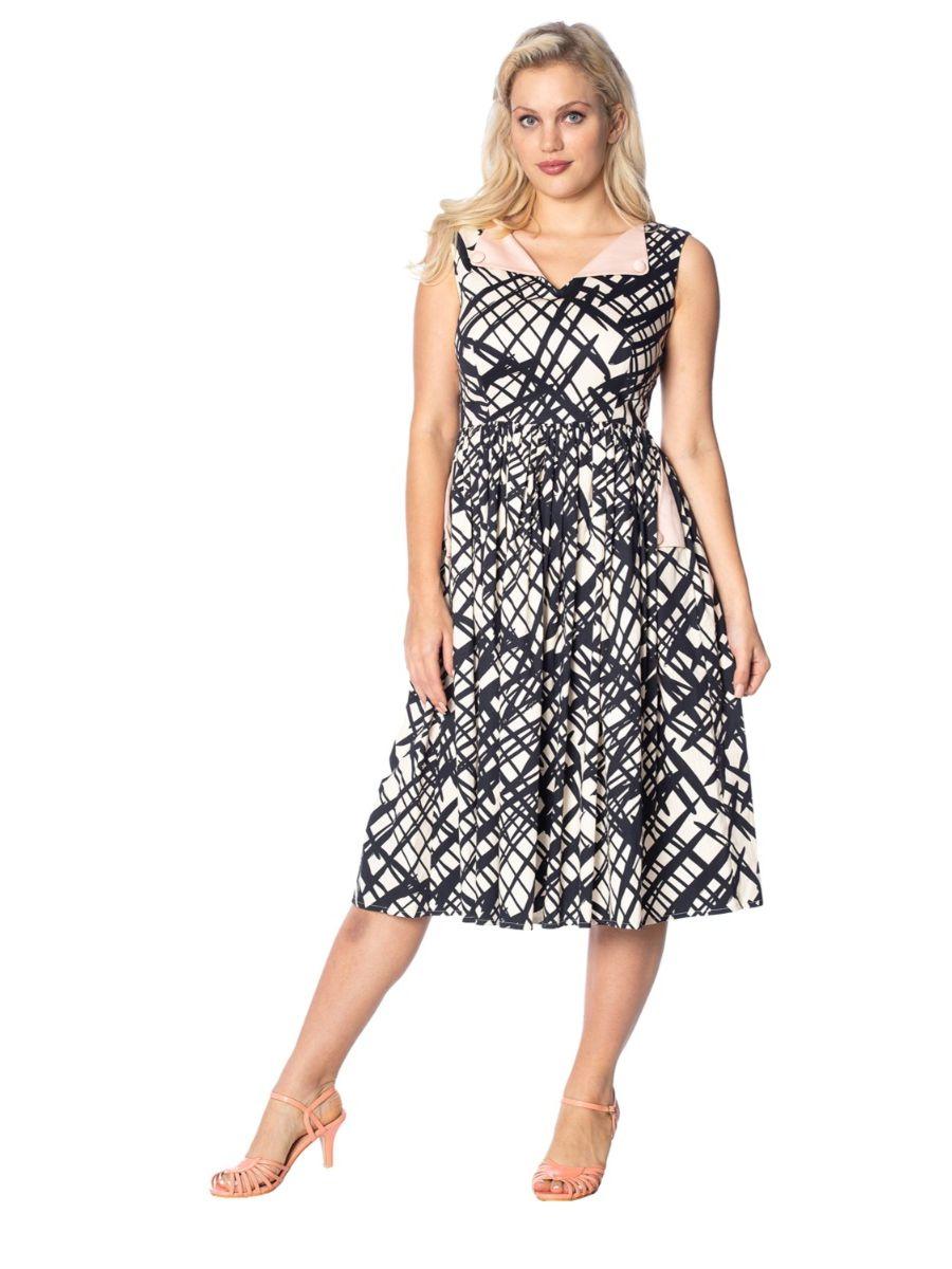 HANDSKETCH FIT & FLARE DRESS