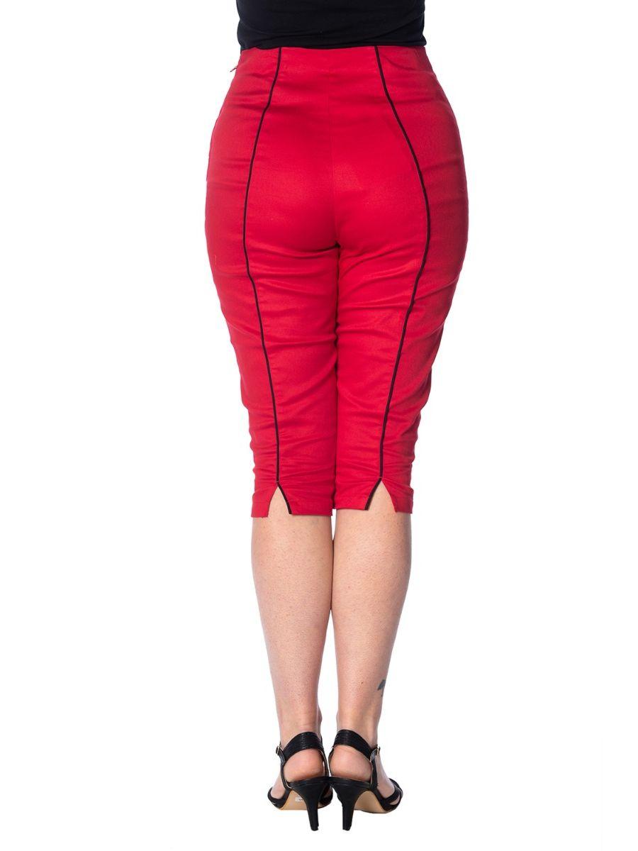 ROCKIN RED CAPRI PANT