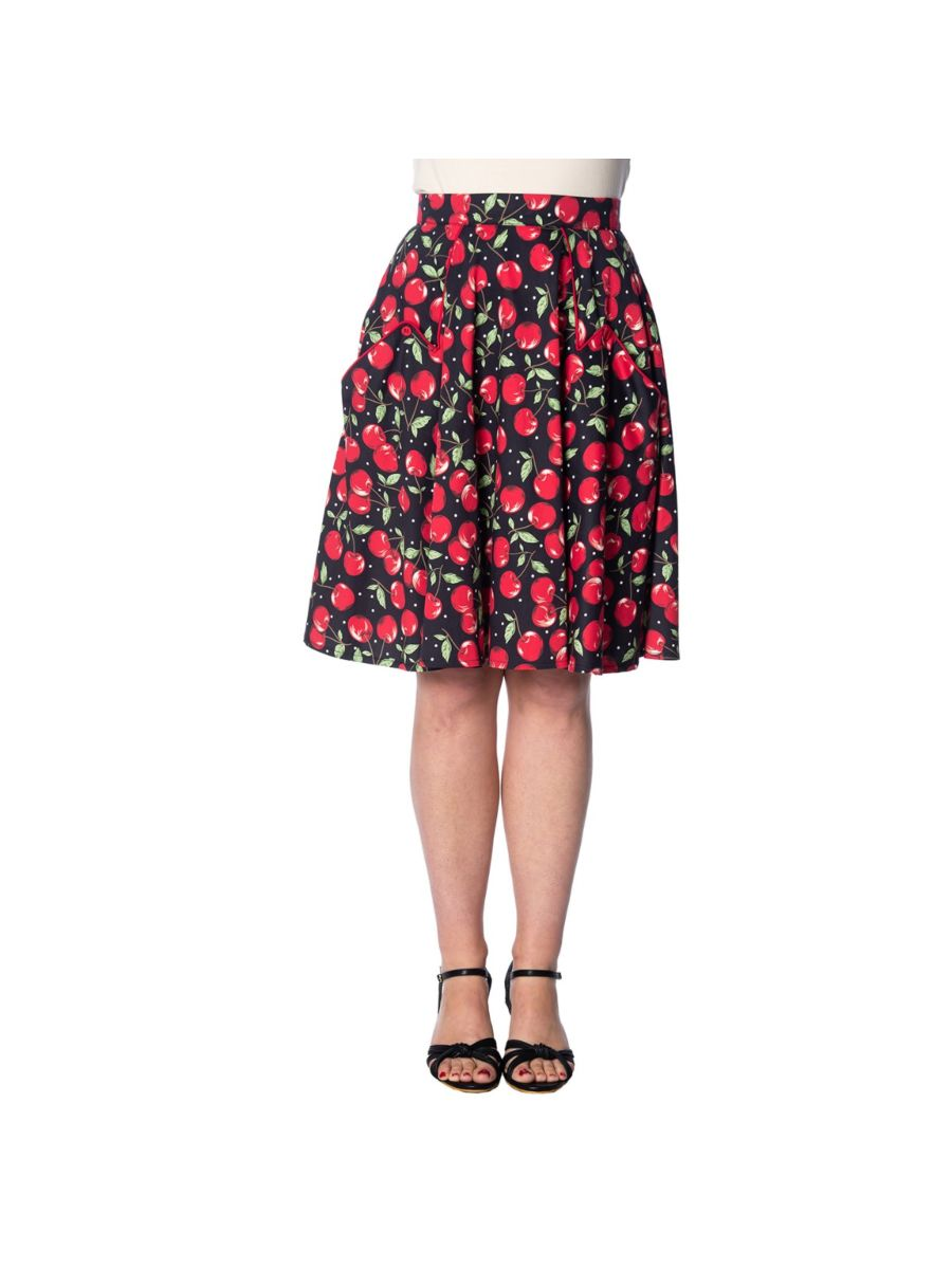 CHERRY SODA 50's POCKET SKIRT