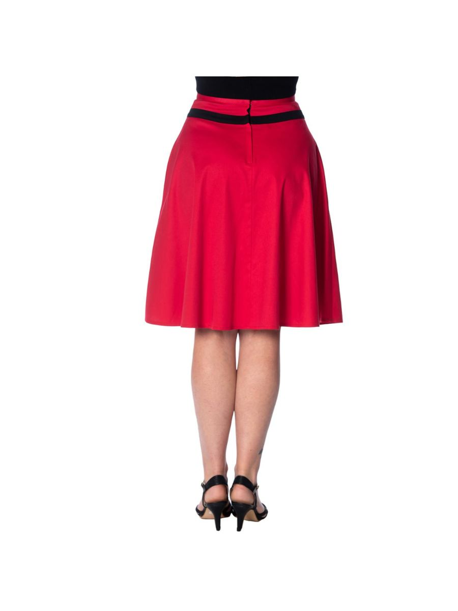 ROCKIN' RED FLARED SKIRT