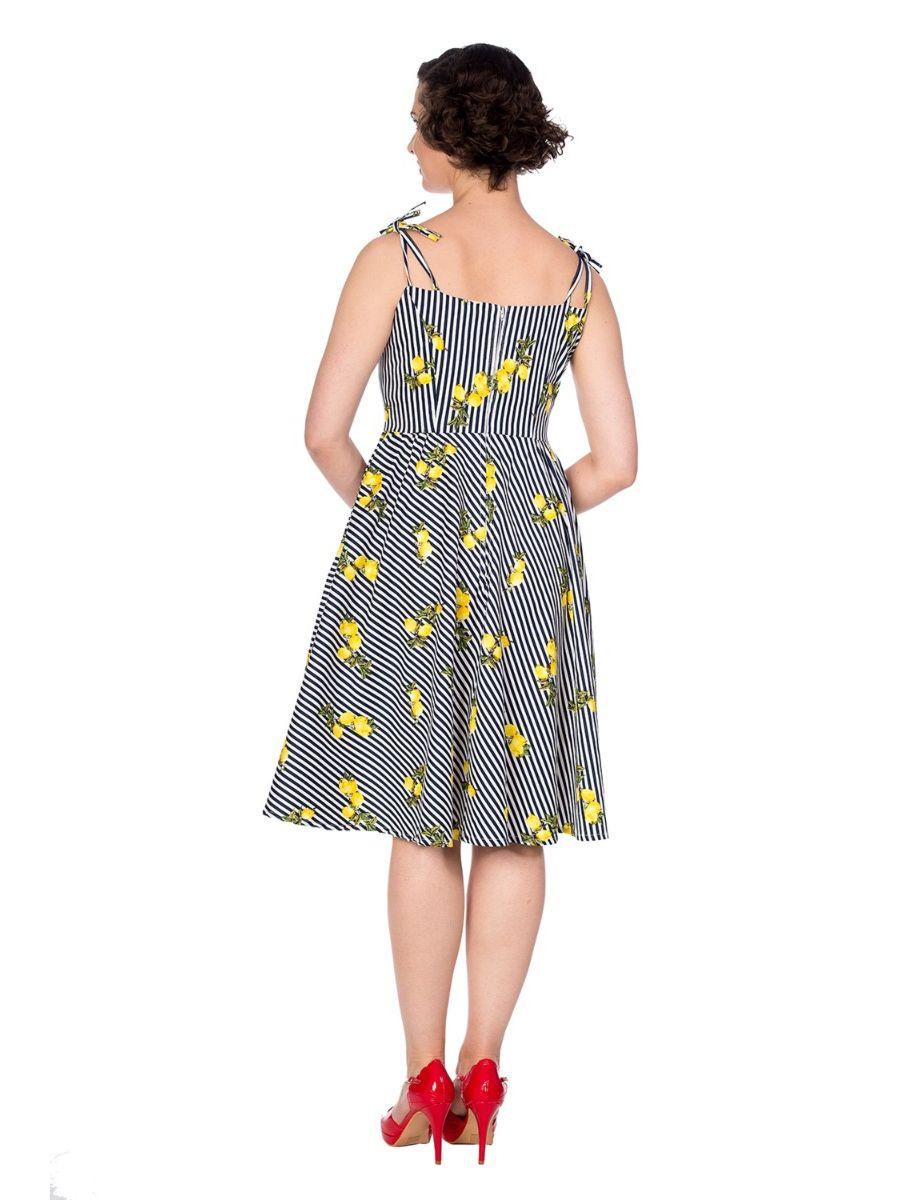 STRIPE & LEMON DRESS