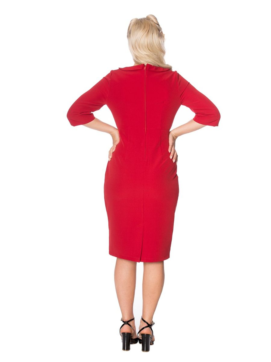 LIPSTICK PENCIL DRESS
