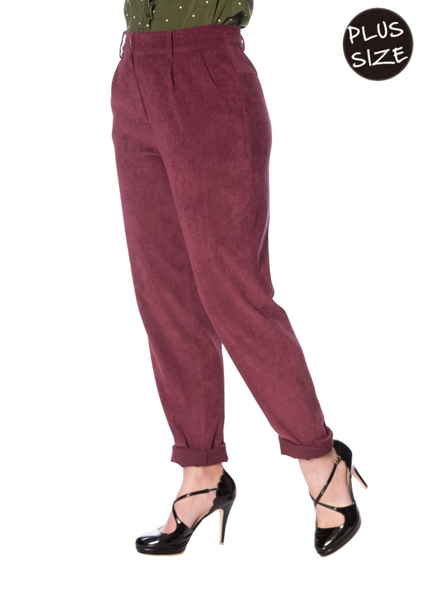 CUTE CORDS CORDUROY MOM JEANS