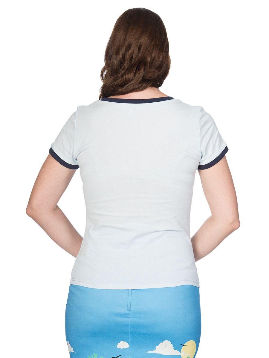 Banned Retro Morning Starshine Didi Crew Neck Vintage T-Shirt White