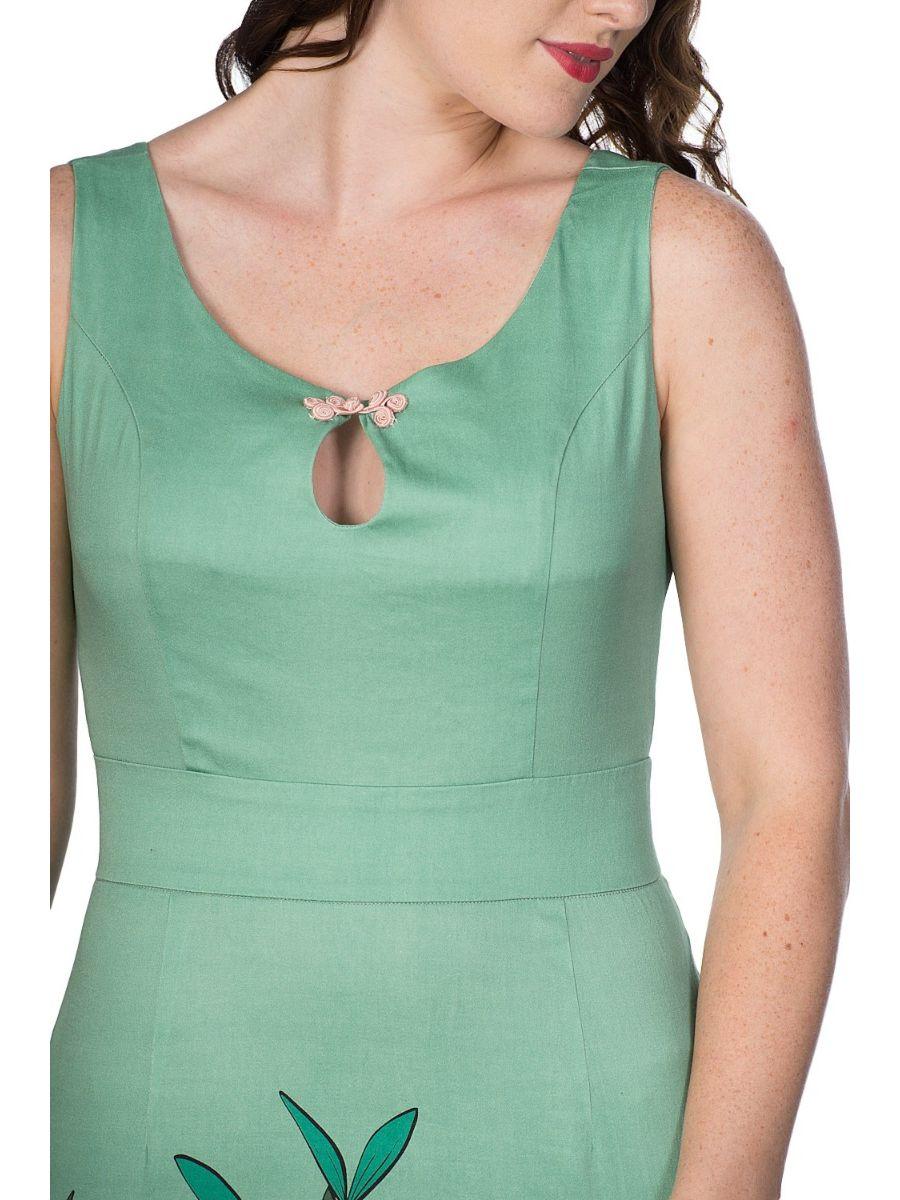 ORIENTAL TIGER FLORAL PENCIL DRESS