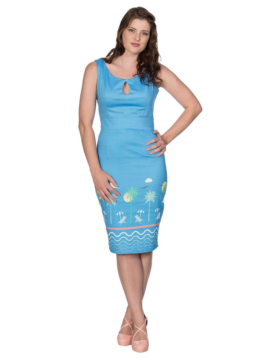 50S HOLIDAY WIGGLE PENCIL DRESS