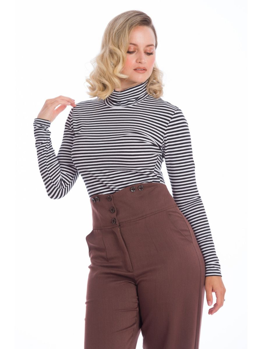 WINTER STRIPE JERSEY TOP