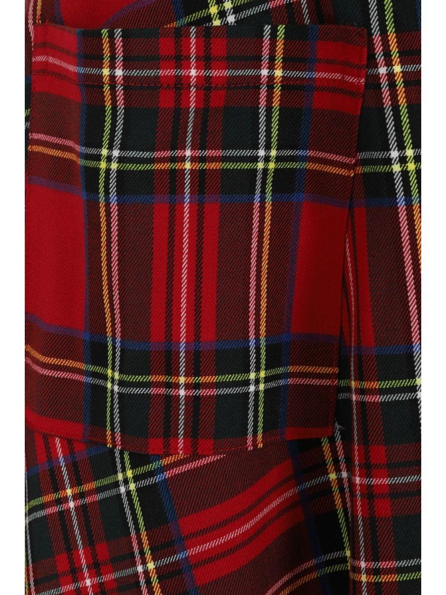 Banned Retro 1960's Sweet Tartan Red Plaid Pinafore Adele Dress