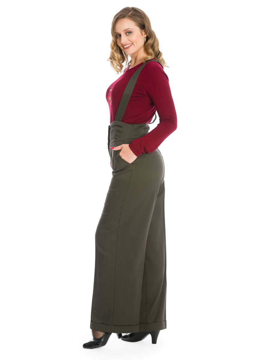 HER FAVOURITES TROUSER-Green