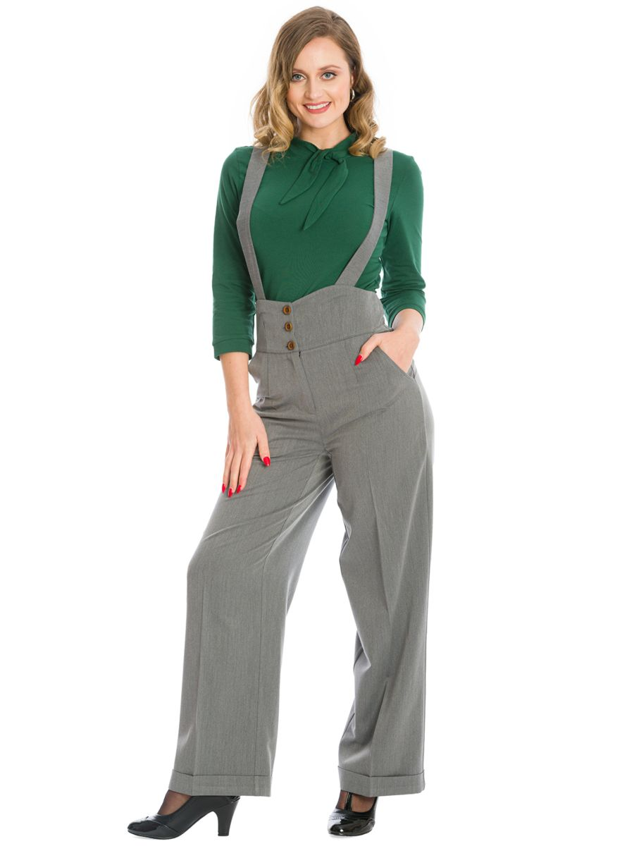 HER FAVOURITES TROUSER-Grey