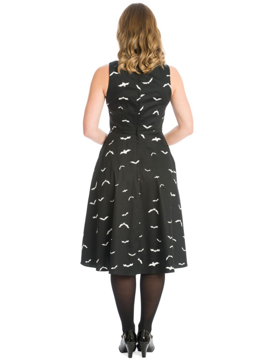 SHES BATTY FOR YOU SWING DRESS-Black