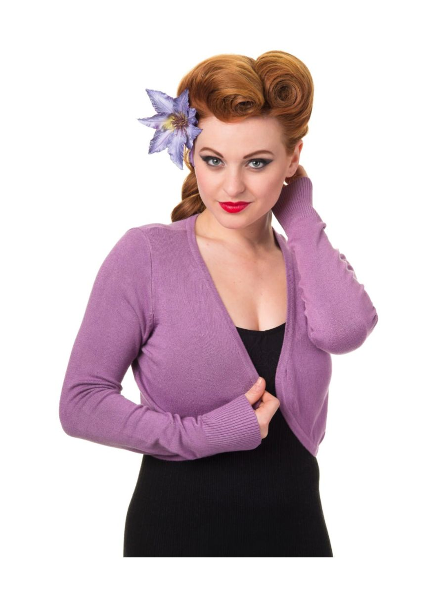 Banned Retro 1950's Flickers Anna Bolero Lavender Purple