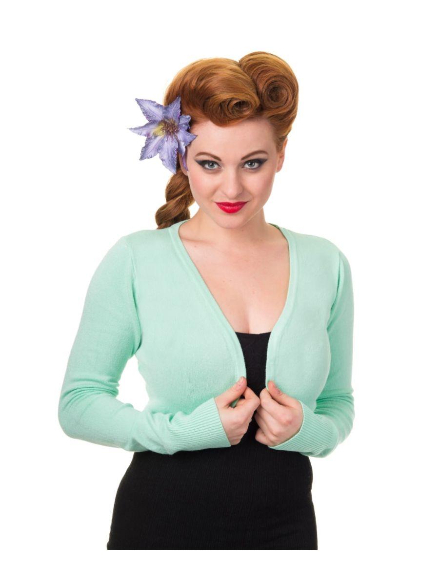 Banned Retro 1950's Flickers Anna Bolero Mint Green