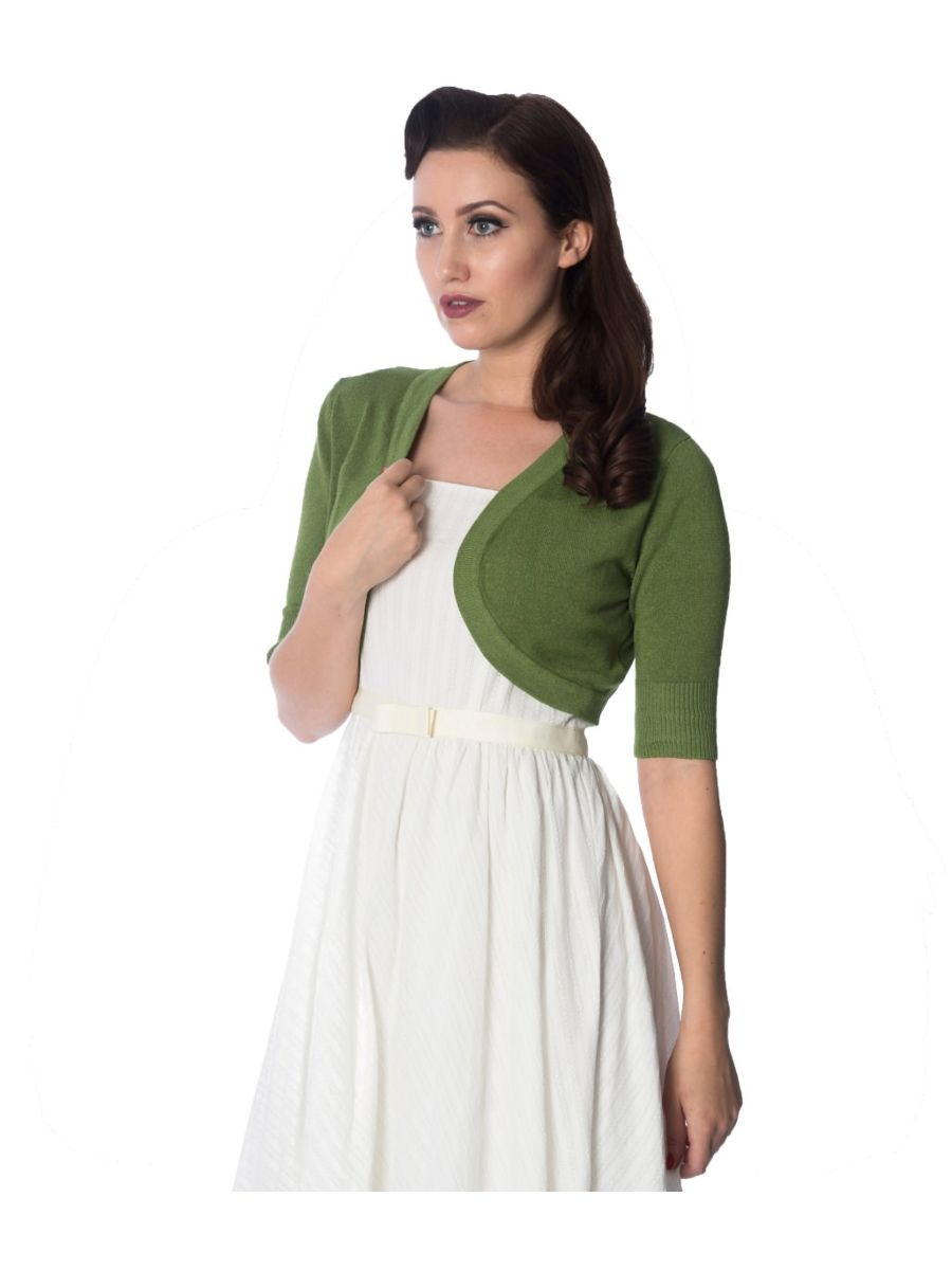 Banned Retro 1950's Hudson Anna Bolero Apple Green