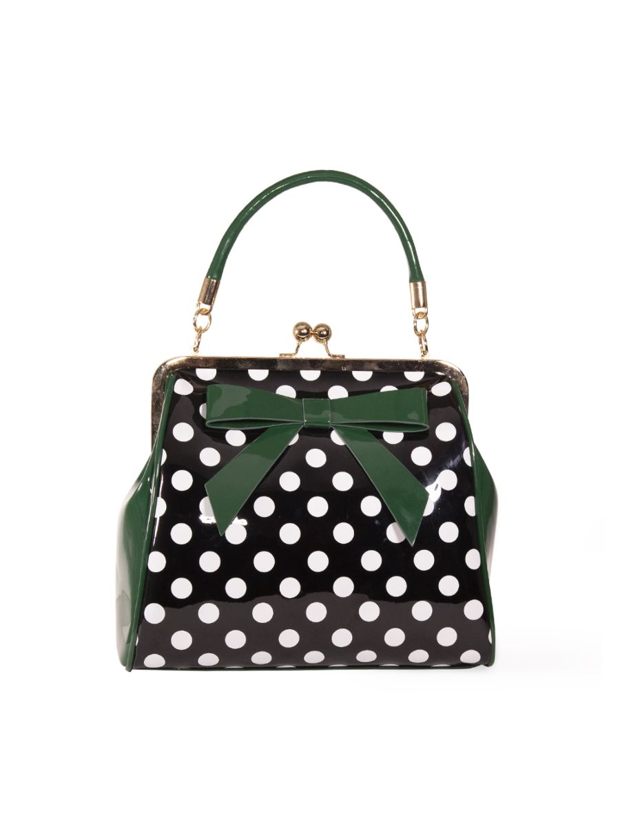 CLASSIC POLKA DOT AND BOW HANDBAG