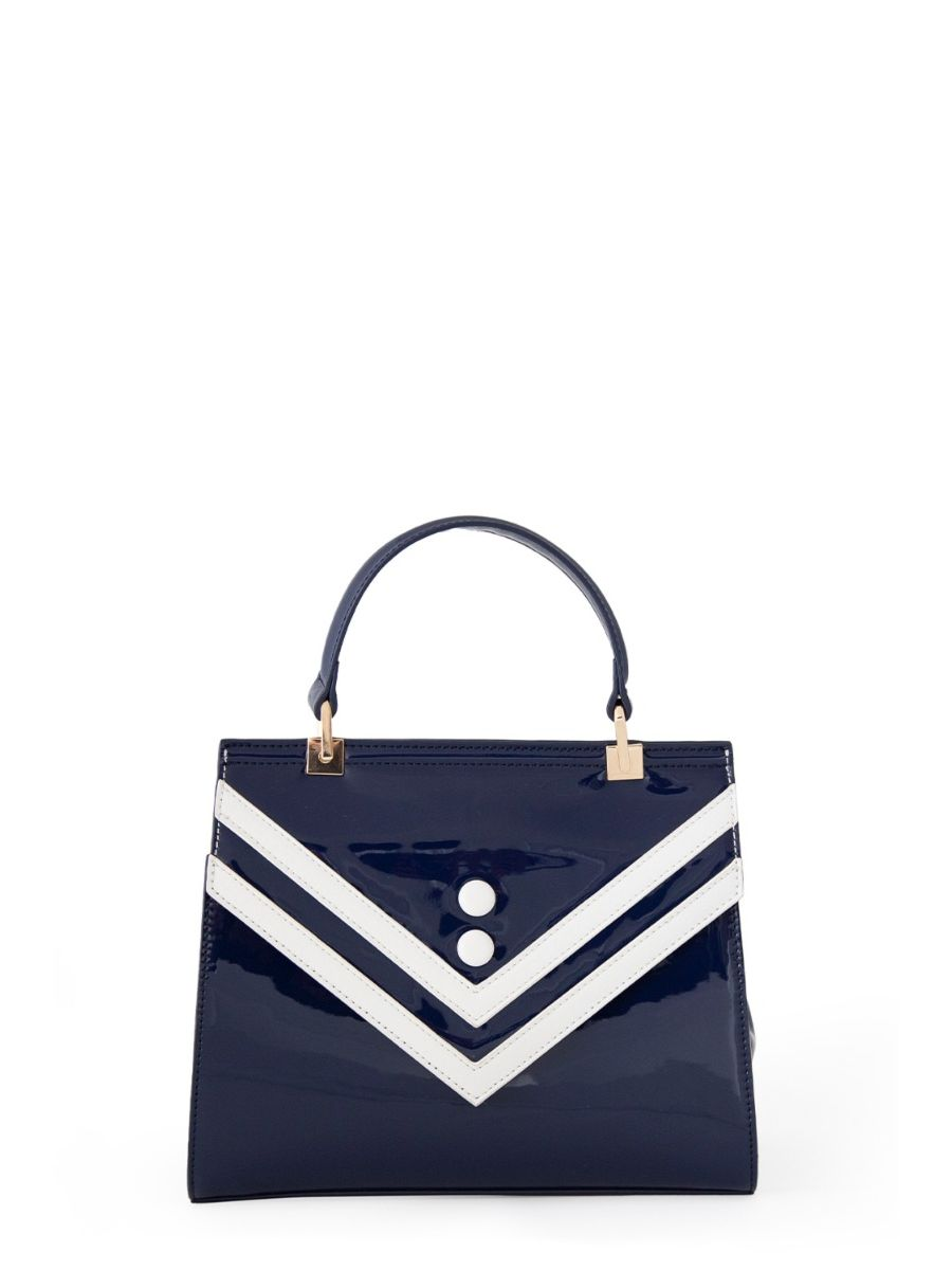 Banned Retro 1950's Serene Waters Nautical Stripe Navy Handbag