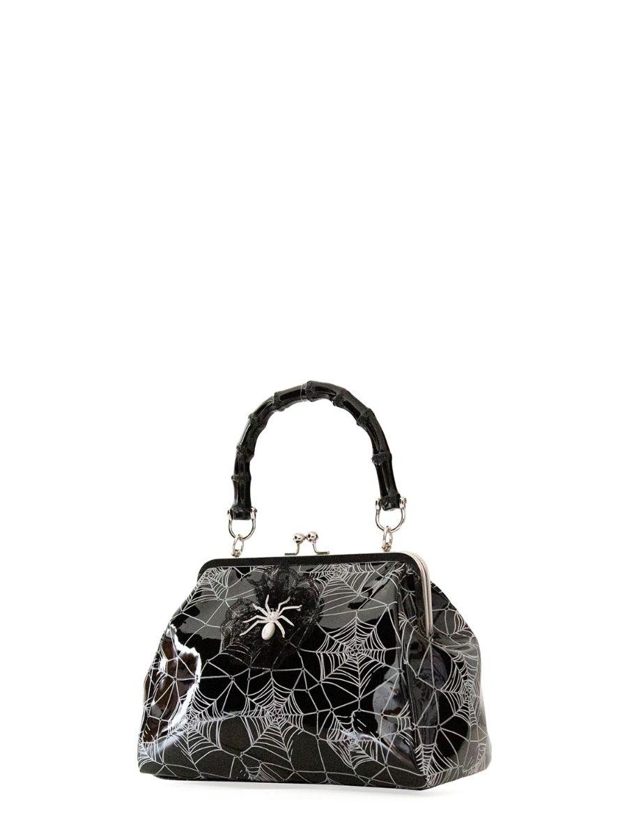 Banned Retro Killian Black Spider & Webb Frances Handbag