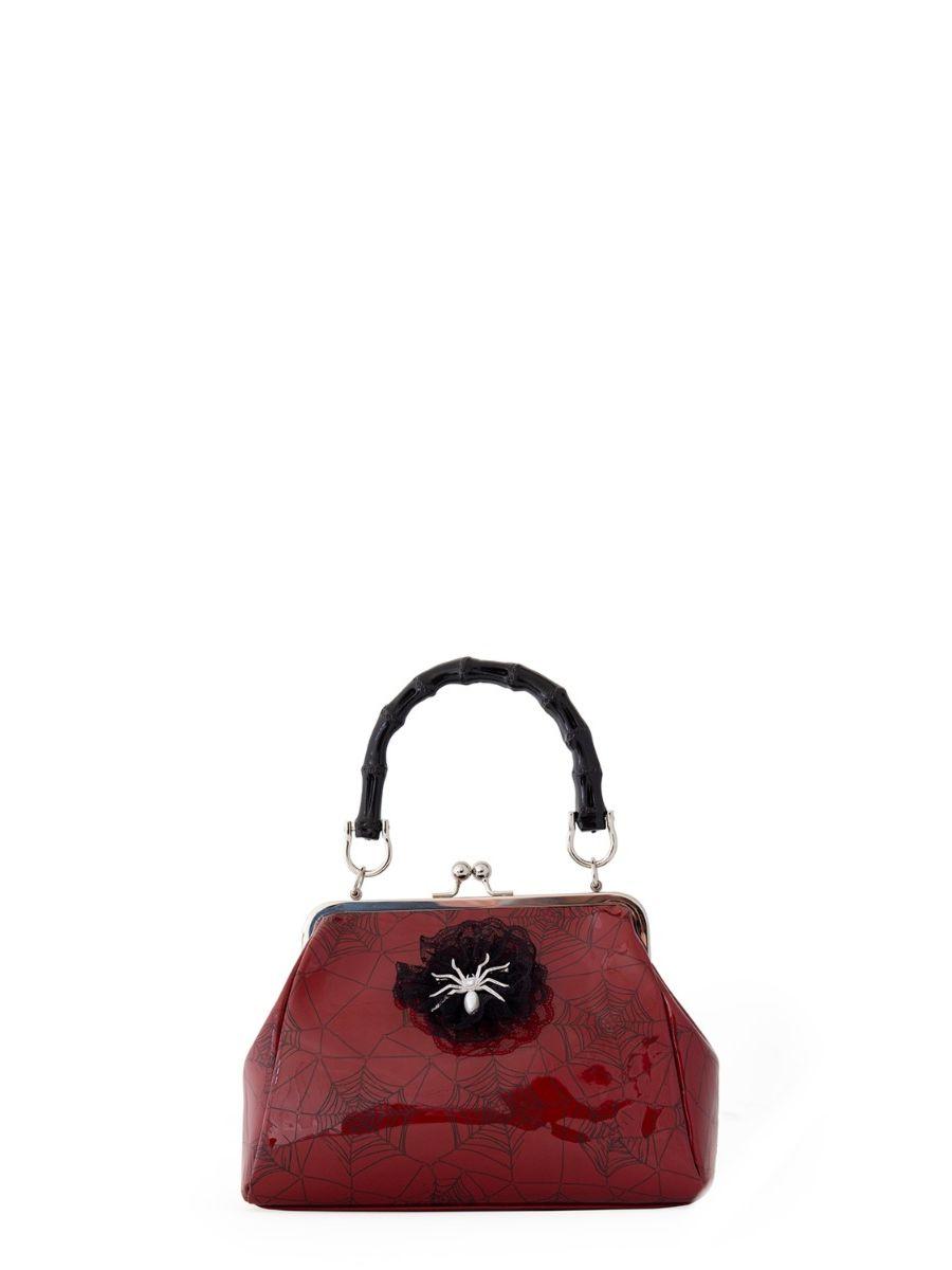 Banned Retro Killian Red Spider & Webb Frances Handbag