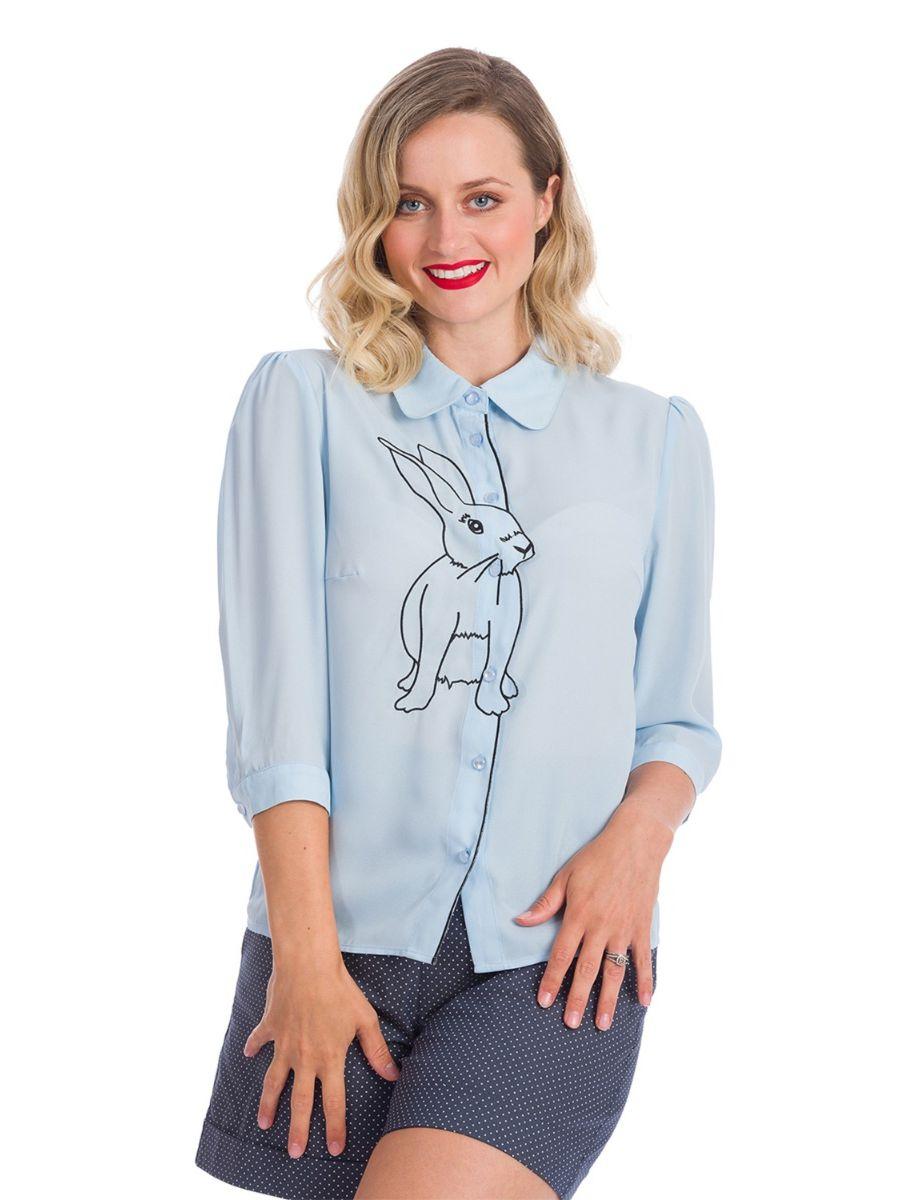 Banned Retro 1940's Bunny Hop Thelma Blouse