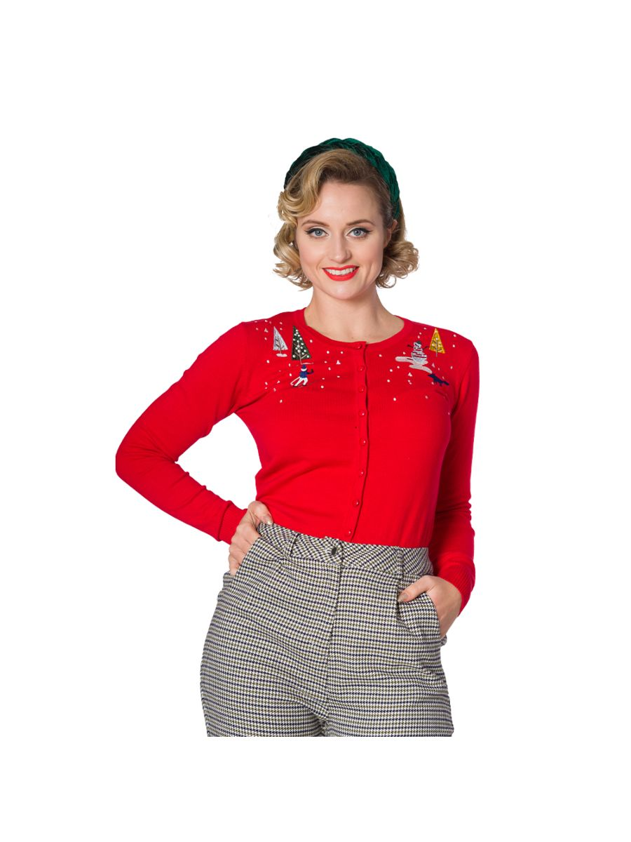 CHRISTMAS TOWN EMBROIDERY CARDIGAN