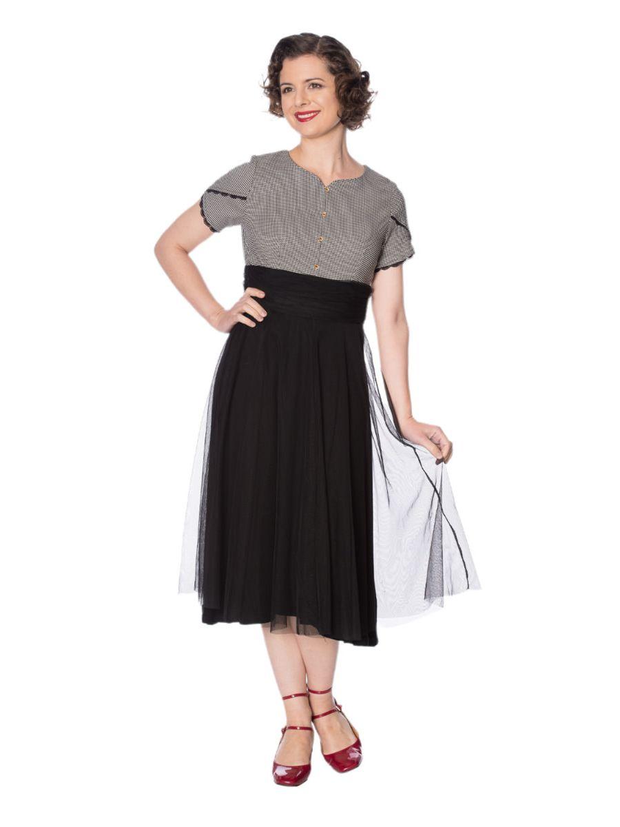 BETTY HOUNDSTOOTH DRESS