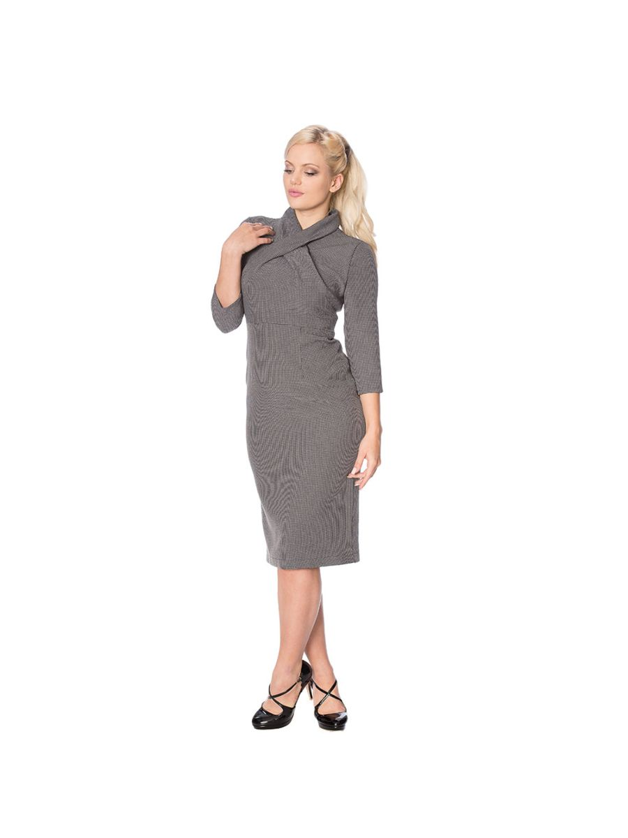 BETTY MEANS BUSINESS CHECK PENCIL DRESS