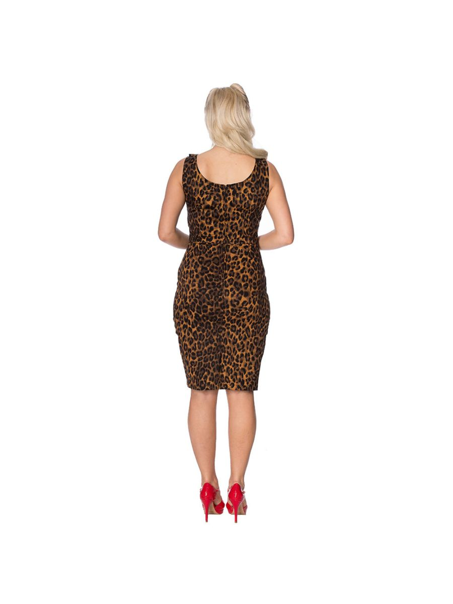 ANIMAL INSTINCTS LEOPARD PENCIL DRESS