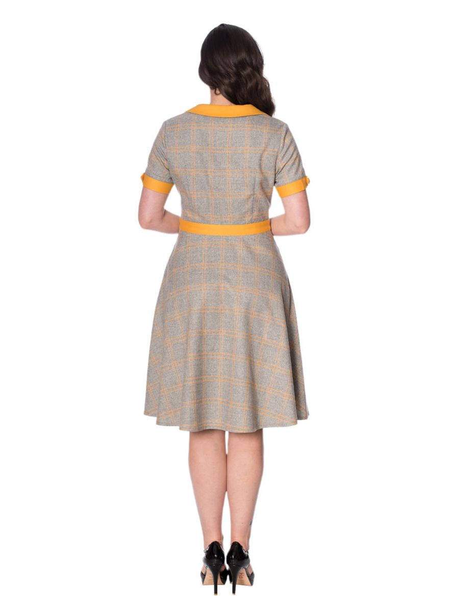 THE FABULOUS BOOKWORM CHECK FLARE DRESS