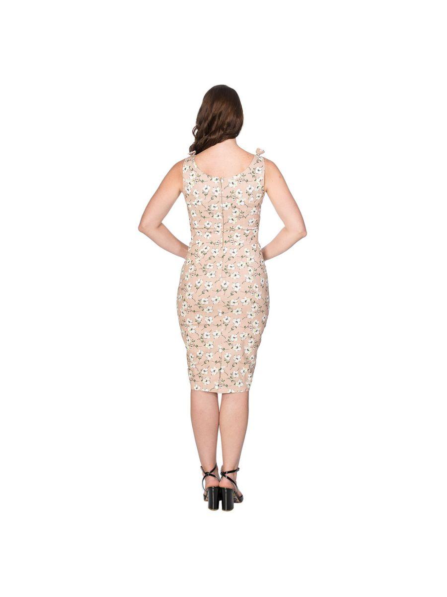 FRESH BLOOM PRINT PENCIL DRESS