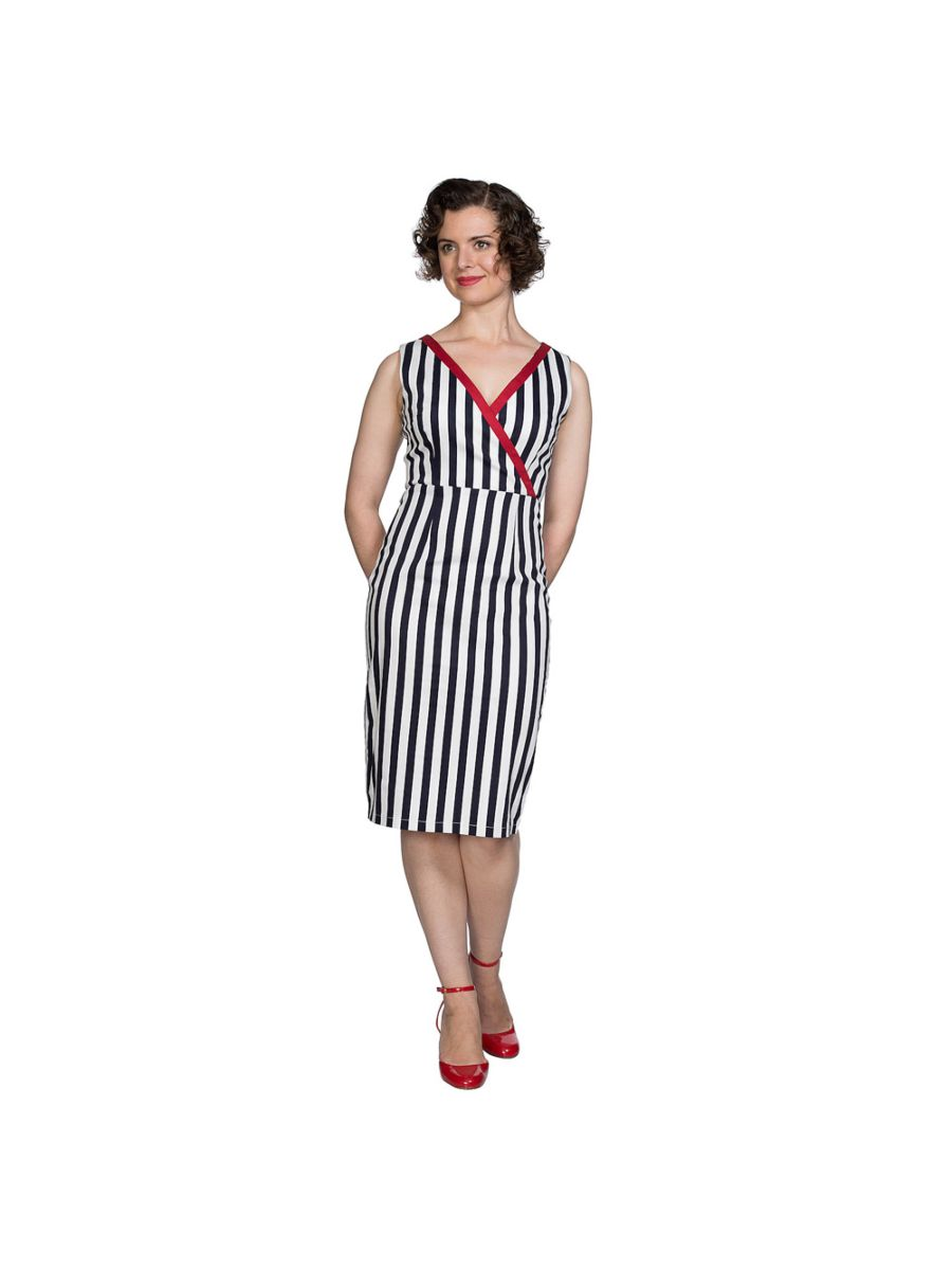 LAND AHOY PENCIL DRESS