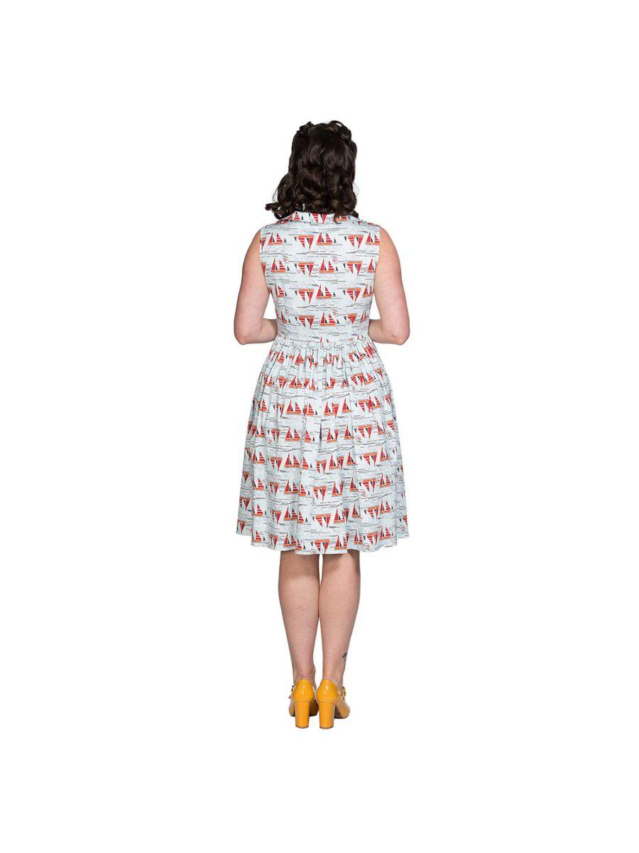 SAIL AWAY COLLAR DRESS
