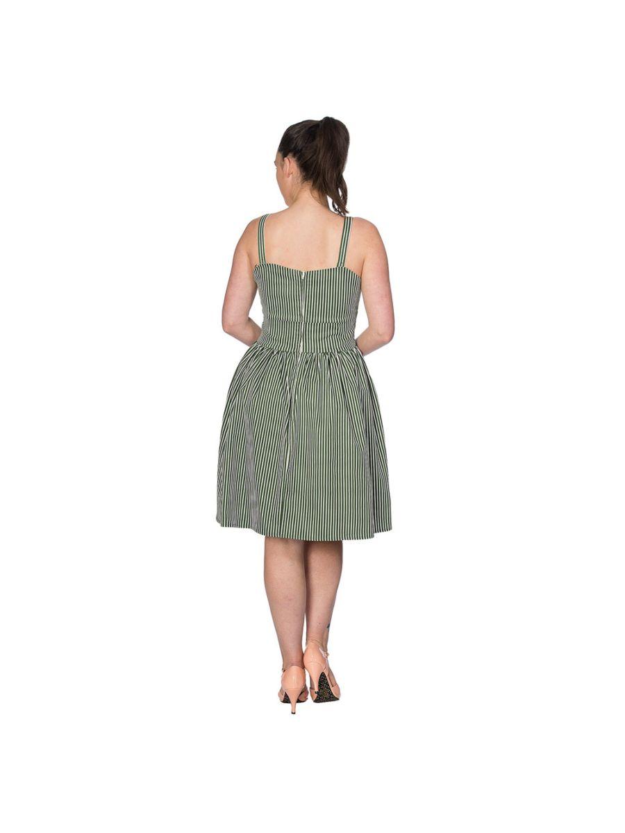 STRIPES & BOWS FLARE DRESS