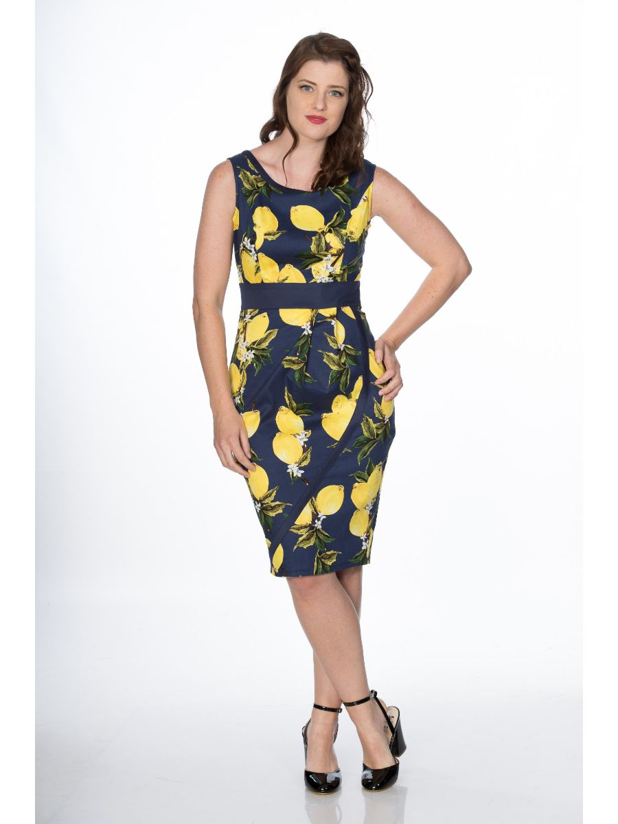 LEMON PENCIL DRESS