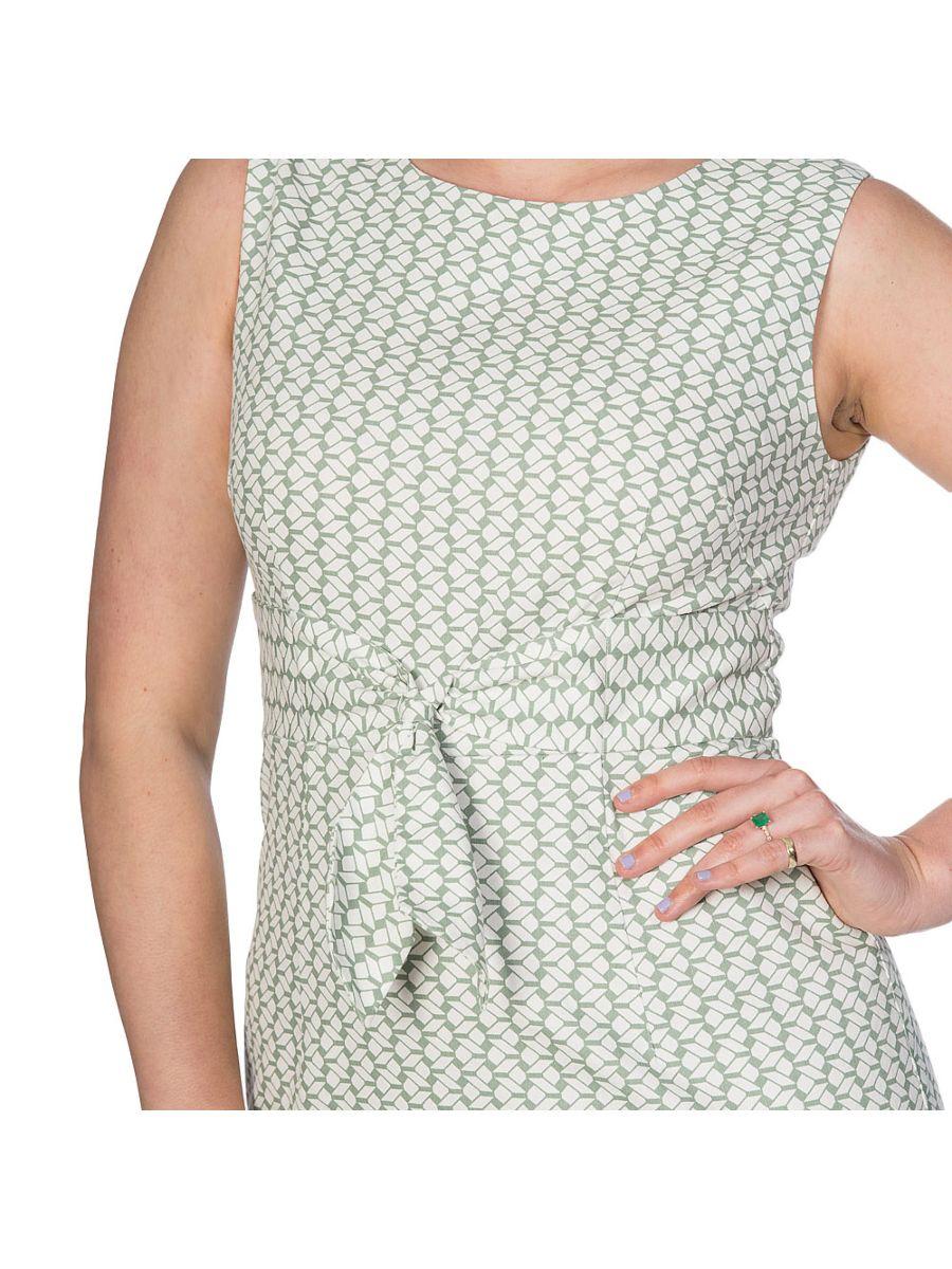 TILE PRINT WIGGLE DRESS
