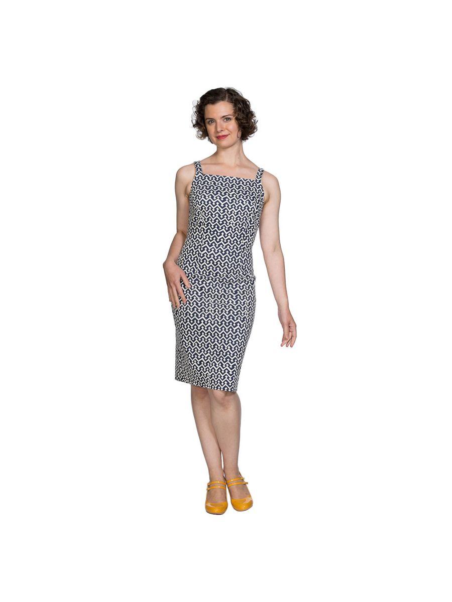 TILE PRINT SKINNY DRESS