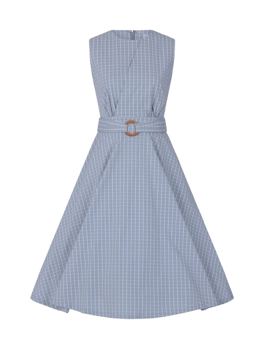 GRID CHECK DRESS